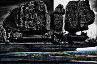 Entre medio de estas rocas