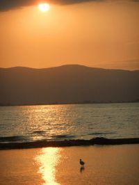 Posta de sol al Delta de l'Ebre