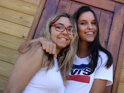 Carla Di Pinto i Carla Flila a les colònies 2017 d'Adolescents.cat!