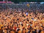 Fotiquis CanetRock 014 Així es veuen des de dalt 25.000 persones.