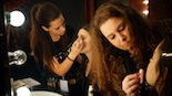 Fotos GALA FINAL Teen Star 2 Les noies de THUYA (Escola de Formació Professionalen imatge personal,estètica, caracterització, perruqueria i maquillatge) maquillant Ariadna Bonet i la Babi.