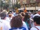 Diada Nacional 2016 concentració independentistes Baix Montseny a Barcelona i Salt  Sant Celoni