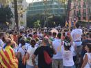 Diada Nacional 2016 concentració independentistes Baix Montseny a Barcelona i Salt  Vallgorguina