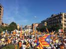 Diada Nacional 2016 concentració independentistes Baix Montseny a Barcelona i Salt  Salt
