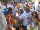 Diada Nacional 2016 concentració independentistes Baix Montseny a Barcelona i Salt  Campins