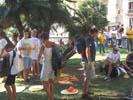 Diada Nacional 2016 concentració independentistes Baix Montseny a Barcelona i Salt  Sant Pere de Vilamajor