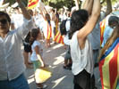 Diada Nacional 2016 concentració independentistes Baix Montseny a Barcelona i Salt  Llinars del Vallès