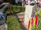 ofrena floral i manifestació 11 de Setembre ERC-Breda Foto: ERC-Breda