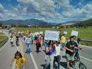 Manifestació 1r de maig al Baix Montseny