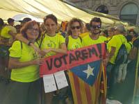 Tram Baix Montseny Diada Nacional de Catalunya 2017 a Barcelona