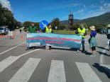 Manifestació contra asfaltatge carretera al Montseny