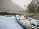 Temporal de neu als Ports i Terra Alta i llevantada al Delta Pobla de Massaluca, campping 'Port Massaluca'.