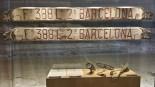 Visita al Museu del Mar Matrícula d'un dels últims pailebots que va treballar en tasques de cabotatge.