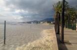 El mar enfurismat pel temporal