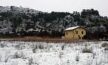 Més imatges de la nevada a les TE Reserva Natural de Sebes
