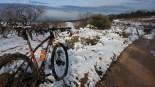 Més imatges de la nevada a les TE Gandesa. Jaume Carles