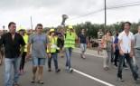 Manifestació a la carretera N-340