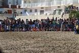 Alliberament de 3 tortugues babaues a la platja de les Delícies, a la Ràpita Foto: Sofia Cabanes