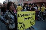 Manifestació als carrers de Tortosa contra la Llei Wert