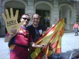 La manifestació del 10-J amb ulls ripollesos Els santjoanins Carles Martínez i Carles Bassaganya