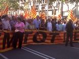 La manifestació del 10-J amb ulls ripollesos Pancarta del PSC. Foto: Núria López
