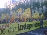 La manifestació del 10-J amb ulls ripollesos Bloc de la CUP. Foto: Fran Barroso