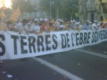 La manifestació del 10-J amb ulls ripollesos Bloc de les Terres de l'Ebre. Foto: Fran Barroso