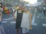 La manifestació del 10-J amb ulls ripollesos En Fran i la Montse de la Taverneta