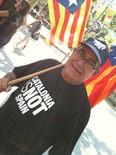 La manifestació del 10-J amb ulls ripollesos Ramon Coma amb una bona estelada. Foto: Xevi Cima
