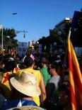 La manifestació del 10-J amb ulls ripollesos Bloc de CiU. Foto: Xevi Cima