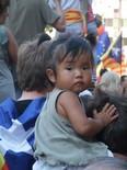 La manifestació del 10-J amb ulls ripollesos Els més petits a la mani. Foto: Joan Ferrer