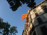 La manifestació del 10-J amb ulls ripollesos Estelada al vent a passeig de Gràcia. Foto: Joan Ferrer