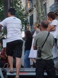 La manifestació del 10-J amb ulls ripollesos Mònica Terribas supervisant l'operatiu de TV3. Foto: Joan Ferrer