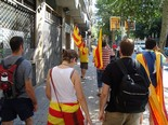 La manifestació del 10-J amb ulls ripollesos Camprodonins a la manifestació. Foto: Anna Colomer