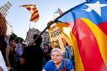 La manifestació del 10-J amb ulls ripollesos Estelada. Foto: Gerard Garcia
