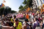 La manifestació del 10-J amb ulls ripollesos Senyera contra el Constitucional. Foto: Gerard Garcia