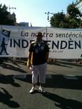 La manifestació del 10-J amb ulls ripollesos El president de CDC de Ripoll, Xevi Ardite