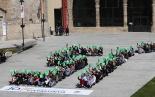 El 2013, en 115 fotografies La JNC inicia a Ripoll una campanya a favor del «sí» (23 de març). Foto: Arnau Urgell