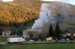 El 2013, en 115 fotografies Un incendi crema parcialment una formatgeria de Sant Pau (5 de setembre). Foto: Aitor Romero