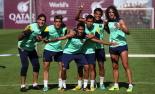 El 2013, en 115 fotografies El santjoaní Àlex Corredera, jugador del juvenil A del Barça, va entrenar amb el primer equip (30 de setembre). Foto: Miguel Ruiz/FC Barcelona