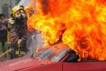 El 2013, en 115 fotografies Simulacre d'incendi a la I Trobada de Cossos d'Emergència del Ripollès a Sant Joan (6 d'octubre). Foto: Marc Cargol