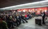 El 2013, en 115 fotografies Teresa Forcades omple a vessar la Lira de Ripoll (12 de novembre). Foto: Rastres (Gerard Garcia i Raül Duque)