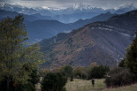 El 2013, en 115 fotografies L'espectacle del paisatge del Baix Ripollès a la I Trail Terra de Comtes i Abats (24 de novembre). Foto: Rastres (Gerard Garcia i Raül Duque)
