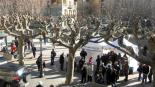 El 13-D en imatges La plaça del Mercat va acollir la mesa electoral a Ribes. Foto: Laia Deler