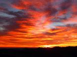 Paisatge i meteorologia de gener al Ripollès Sortida de sol de Reis des de serra Cavallera (6 de gener). Foto: Antonina Coromina