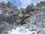 Paisatge i meteorologia de gener al Ripollès Nevada important als entorns del refugi de Coma de Vaca (19 de gener). Foto: Refugi Coma de Vaca