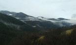 Paisatge i meteorologia de gener al Ripollès Neu a la vall del Rigard per sobre els 1.400 metres (22 de gener). Foto: Elisabet Roch