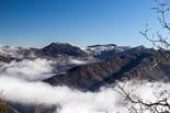 Paisatge i meteorologia de gener al Ripollès Enfarinada a la serra de Milany des de Bellmunt (29 de gener). Foto: Josep Maria Costa