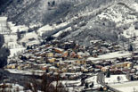 Paisatge i meteorologia de gener al Ripollès Llanars enfarinat des de Sant Antoni (30 de gener). Foto: Josep Soldevila