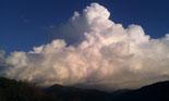 Paisatge i meteorologia de gener al Ripollès Enclusa de tempesta sobre Ripoll des de Gombrèn (30 de gener). Foto: Hermenegild Falguera